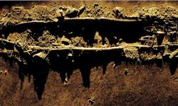 Figure 1: Kraken MINSAS image of the wreck of the USS Yankee, collected on the DIVE-LD.