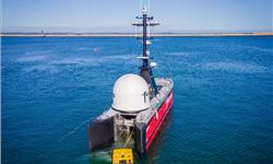 Fugro Blue Essence USV and ROV heading to a project in the APAC region.