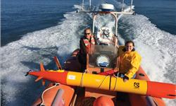 MBARI researchers head out into Monterey Bay to deploy a long-range autonomous underwater vehicle
