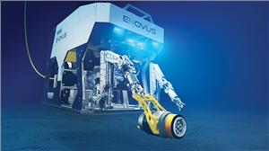 Oceaneering's electric work class eNovus ROV with handheld tooling interface.
