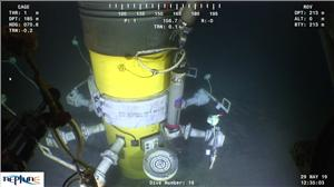 Sonardyne's Compatt 6+ in action, subsea (Photo: Sonardyne)