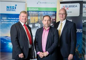 L- R: Tony Laing of NSRI, David Rennie of Scottish Enterprise and Neil Gordon of Subsea UK.