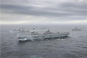 For illustration only - The Carrier Strike Group at sea off Scotland/ Credit: UK Royal