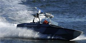 File photo: The U.S. Navy tests a fully autonomous unmanned surface vehicle in 2009 (U.S.
