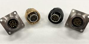 On left: typical FR and CP. On right: Reverse Gender CP with pins and FR with sockets.