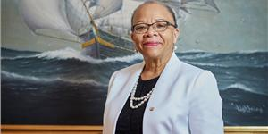 Dr. Cleopatra Doumbia-Henry, president of the World Maritime University (WMU) in Sweden.