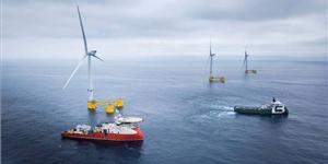 25MW WindFloat Atlantic floating offshore wind farm in Portugal  - Image Credit: