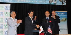 Nippon Foundation and Deepstar signed an MOU in Houston. Photo: Greg