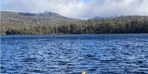 L3Harris Iver3 AUV operating live during the 2021 Winterfest at Lake Saint Clair in Tasmania