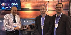 Pictured here at the Sidus booth are (L to R): Leonard Pool, Mark Hopper, VP, and Francis Labonte