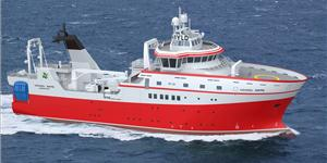 Graphical rendering of the new research vessel (picture courtesy