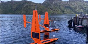 Two saildrones awaiting deployment from Dutch Harbor, AK. Credit: Courtesy of